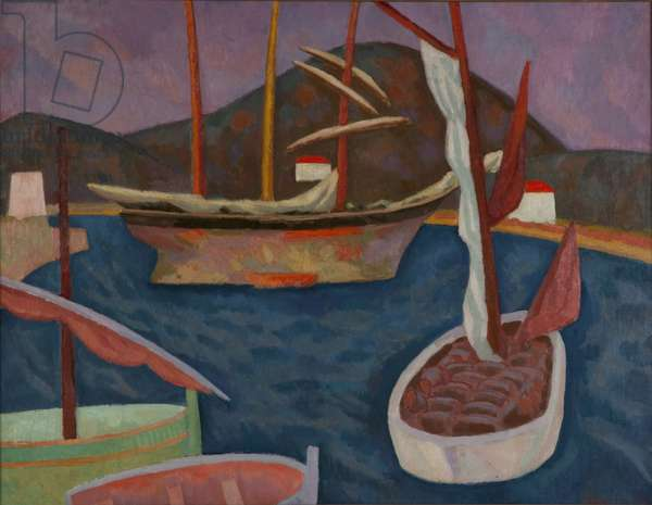 Boats in a Harbour (St Tropez) 1915 (oil on canvas)
