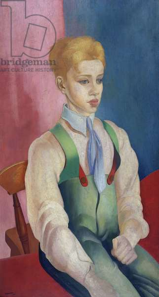 Portrait of a Boy, 1917 (oil on canvas)