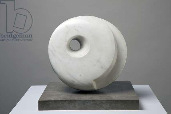 Pierced Hemisphere I, 1937 (marble)