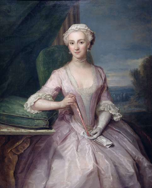 Portrait of Mrs Shakespeare, 1739 (oil on canvas)
