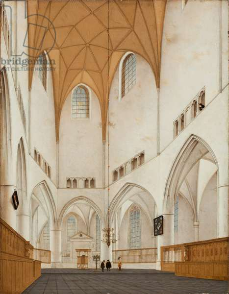 Interior of the Choir of St. Bavo's Church at Haarlem, 1660 (oil on panel)