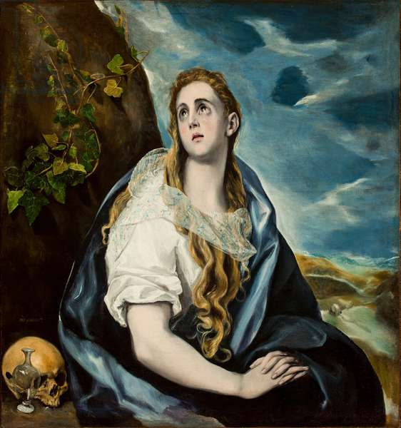 The Repentant Magdalene, c.1577 (oil on canvas)