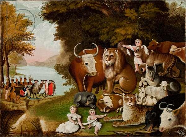 The Peaceable Kingdom, c.1833 (oil on canvas)
