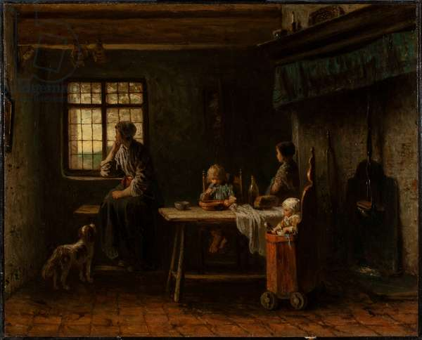 The Anxious Family (oil on canvas)