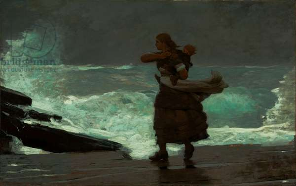 The Gale, 1883-93 (oil on canvas)