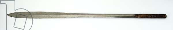 Ol alem (sword), 19th century (iron, cord & leather)