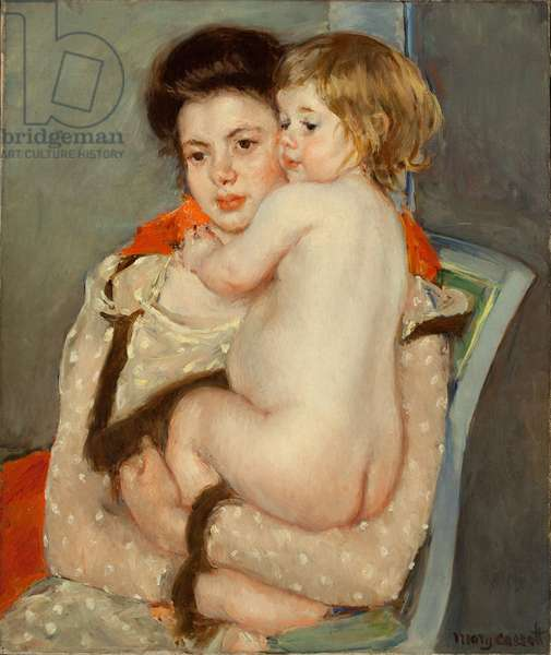 Reine Lefebvre Holding a Nude Baby, 1902 (oil on canvas)