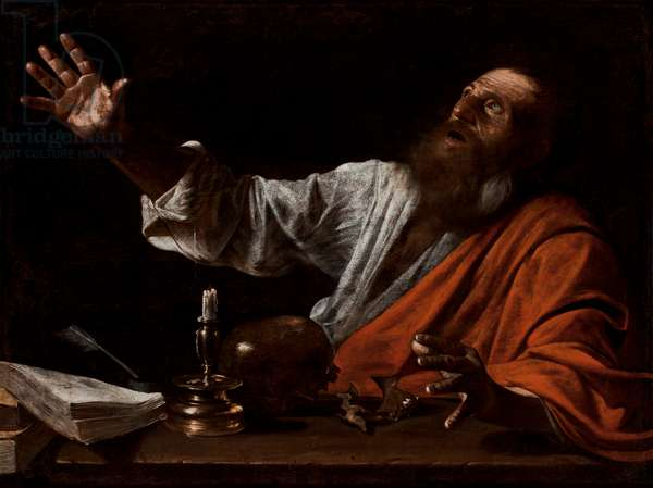 The Vision of Saint Jerome, first half of the 17th century (oil on canvas)