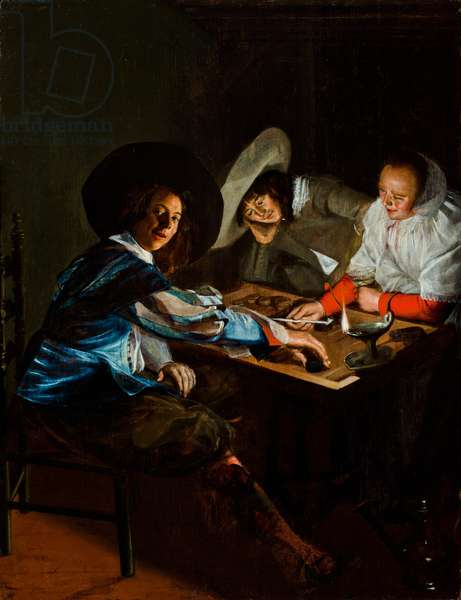 A Game of Tric-Trac, c.1630 (oil on panel)