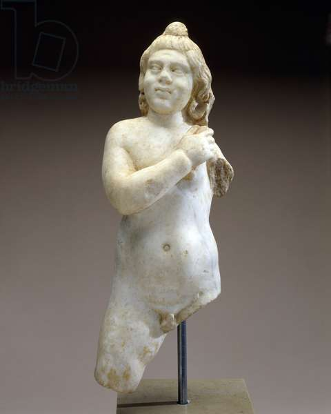 Statue of a Young Boy or Youthful Divinity (Harpocrates) (marble)