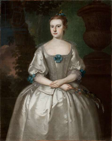 Portrait of Hannah Babcock Bours, 1759 (oil on canvas) (see 183416 for pair)