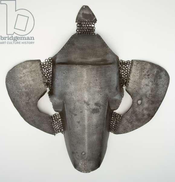 Shaffron, horse's head armour, early 16th century (iron)