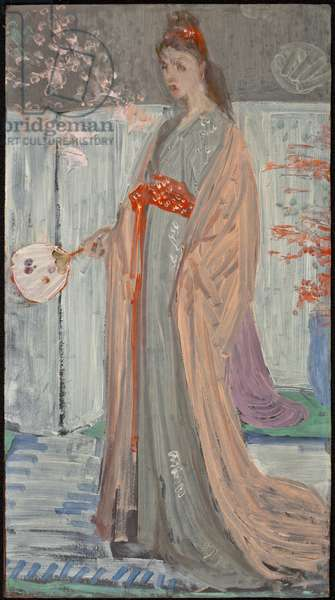 Sketch for Rose and Silver: La Princesse du Pays de la Porcelaine, 1863-64 (oil on fibreboard)