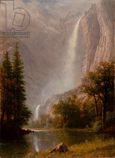 Yosemite Falls, c.1865-70 (oil on canvas)