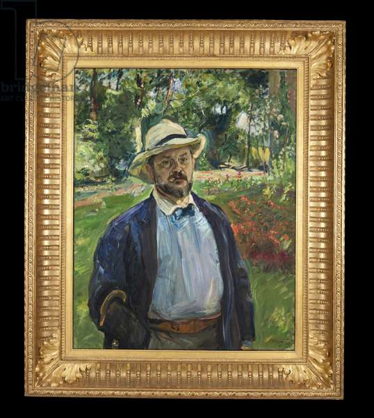 A Self-Portrait in the Garden at Godramstein, 1910 (oil on canvas)