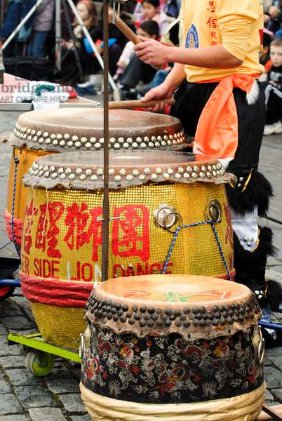 Chinese drums and cymbals