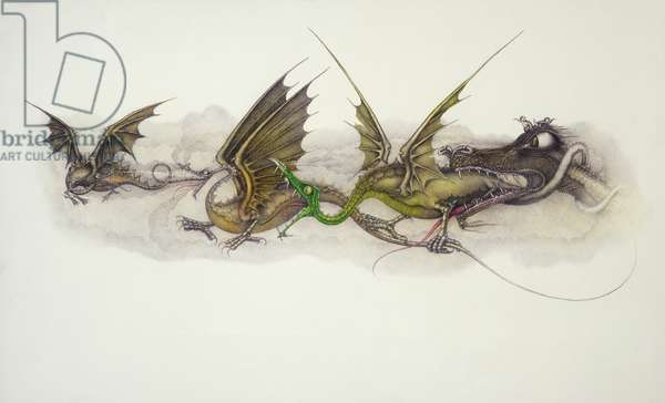 Big Dragons Eat Little Dragons, 1979 (mixed media)