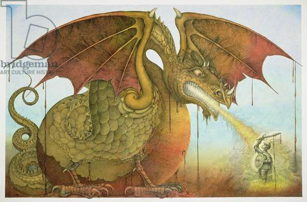 St George and the Dragon, 1979 (mixed media)