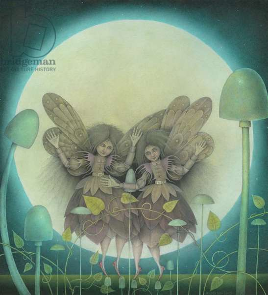 Dancing Faeries, 2011 (mixed media)