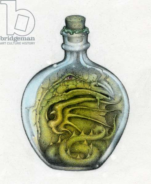 Bottled Dragon, 1991, Mixed Media