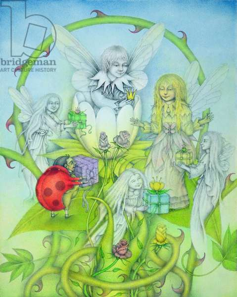 Flower Spirits, 1991 (mixed media)