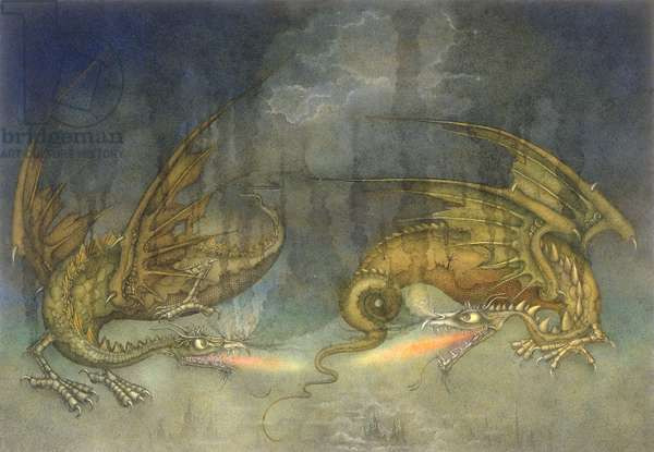 Fighting Dragons, 1979 (mixed media)