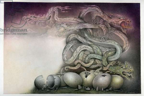 Dragon Birth, 1993, Mixed Media