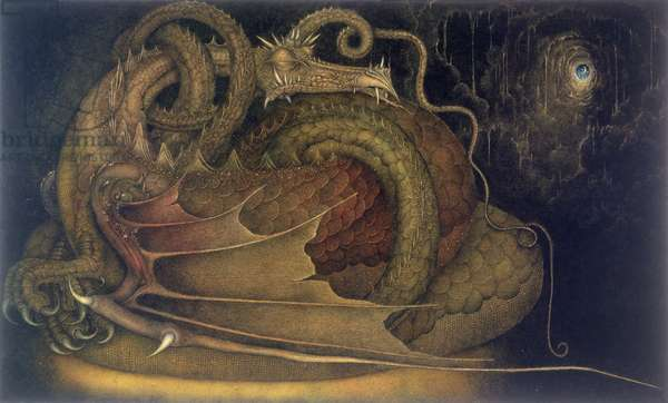 Let Sleeping Dragons Lie, 1979 (mixed media)