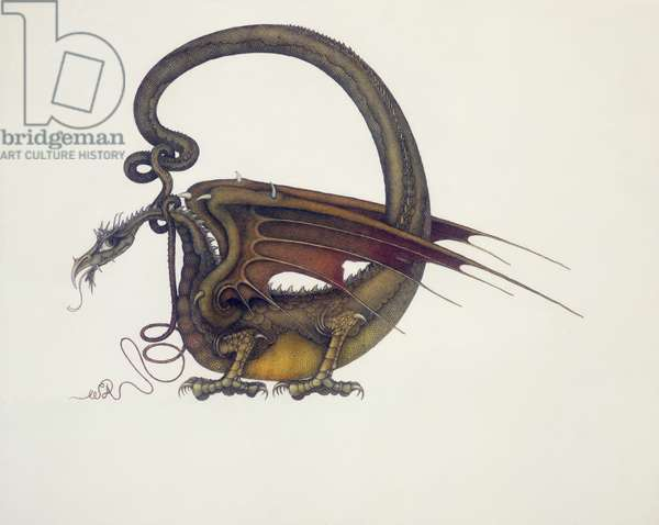 D is for Dragon, 1979 (mixed media)