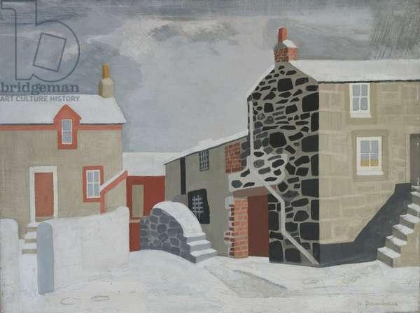 Snow Scene, St. Ives, 1947 (oil on canvas)
