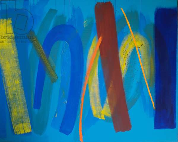 Yellow and Blue, 2000 (acrylic on canvas)