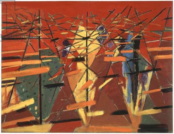 Bush Fire (Fire Series No. 7), 1994 (oil on canvas)
