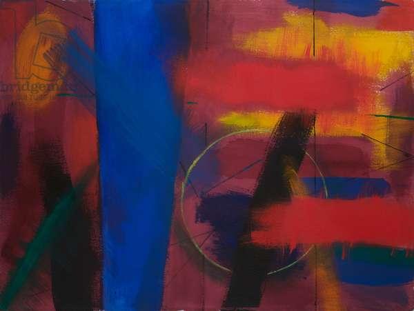 Night Walk, Porthmeor, 1999 (acrylic on paper)