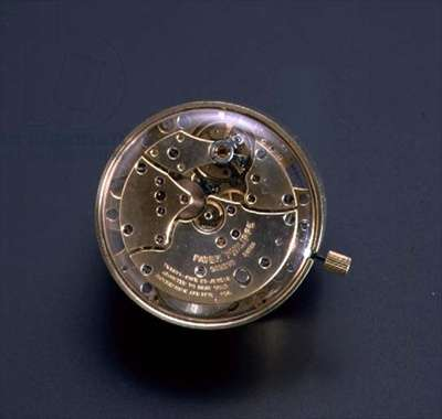 Co-axial escapement fitted to a wrist-watch movement, patented by George Daniels and made by Philippe Patek and Switzerland, 20th century