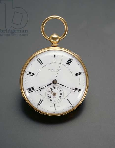 Decimal watch, made by R. D. and T. Statter, Liverpool, 1862