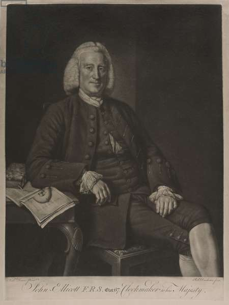 Portrait of John Ellicott F.R.S. (engraving)