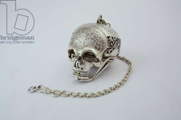 Skull watch, known as the 'Mary Queen of Scots Skull Watch', made by Moysant, Blois (silver)