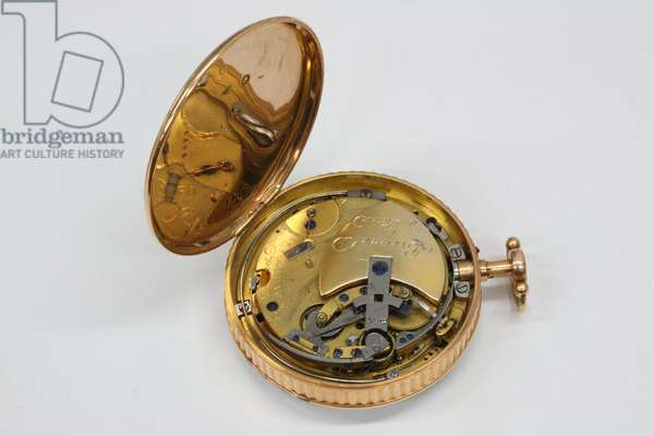 Reverse of the 'Perpetuelle' watch, 1783 (gold case)
