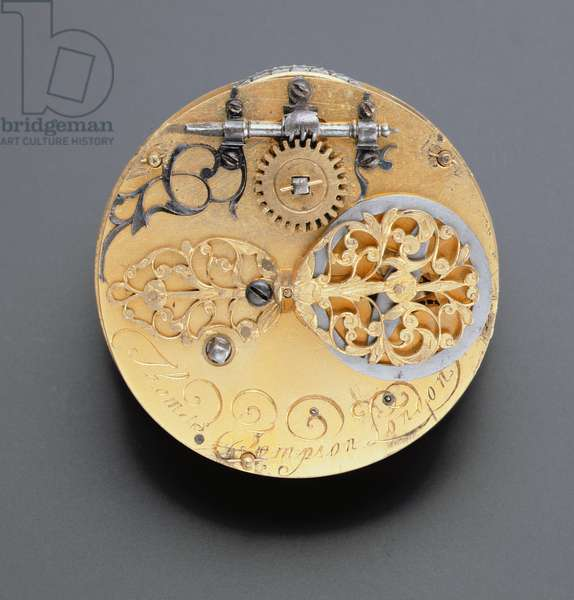 Watch movement by Thomas Tompion (1639-1713) London, c.1671