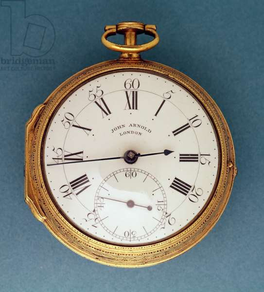 Pocket watch, with silver-gilt case and white enamel dial, English, by John Arnold, 1776-7 (silver gilt, enamel & steel)