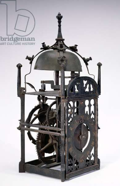 Domestic clock with foliot escapement, probably made in Germany, 15th century
