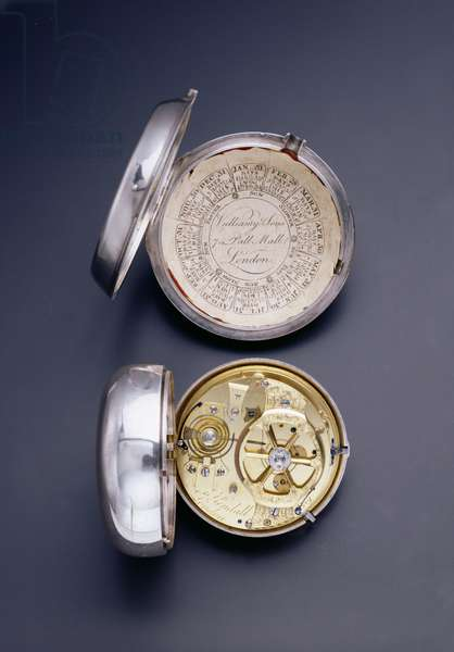 Pocket chronometer by Vulliamy & Sons, London and small watch made by Larcum Kendall, London, 18th century