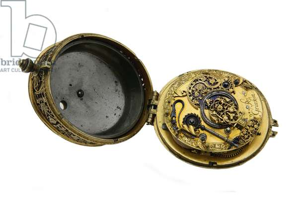 Oval watch by Robert Grinkin, London, c.1625 (gilt)