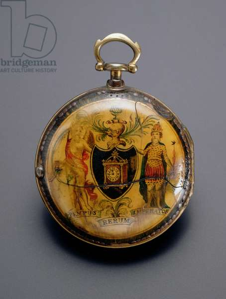 Watch depicting the Company's Arms and Motto, signed by George Flote, London, c.1800 (painted horn)