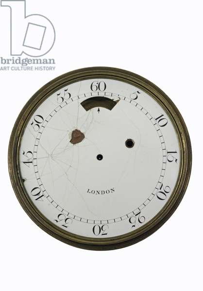 Enamel dial of Cumming's timekeeper, c.1767 (metal)