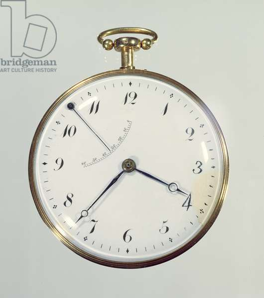 'Perpetuelle' watch made by Abraham-Louis Breguet (1747-1823) in Paris, 1783 (gold case with enamel face) (see 86298 for movement)