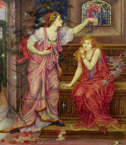 Queen Eleanor and Fair Rosamund (oil on canvas)