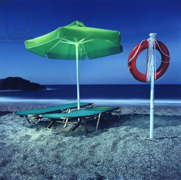 Umbrella # 12, Plakias, Crete, Greece, 2002 (photo)