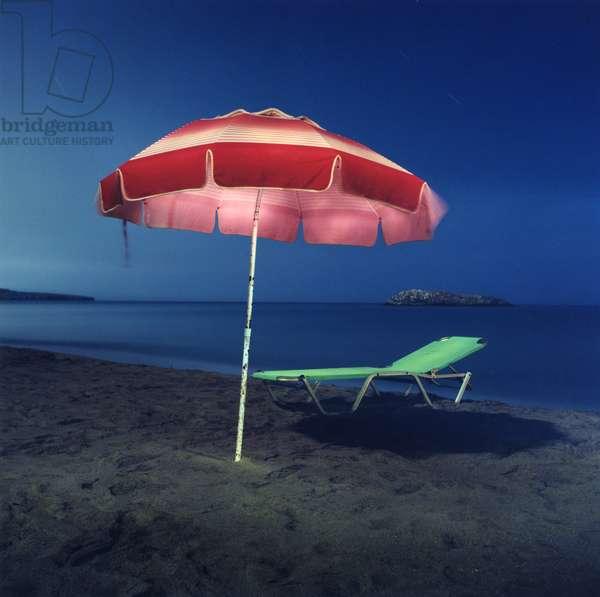 Umbrella # 14, Karteros, Heraklion, Greece, 2002 (photo)