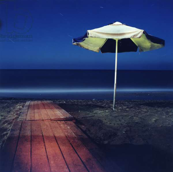 Umbrella # 15, Kokini Chani, Crete, Greece, 2002 (photo)